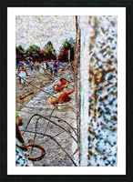 Fall of the Berlin Wall Picture Frame print