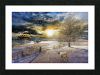 A Magical Winter Night Picture Frame print
