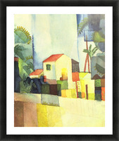 Bright house by August Macke Picture Frame print