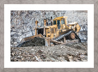 Earth Mover Picture Frame print