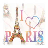 I LOVE PARIS Picture Frame print