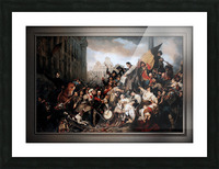Episode of the September Days 1830 by Gustave Wappers Classical Fine Art Xzendor7 Old Masters Reproductions Picture Frame print
