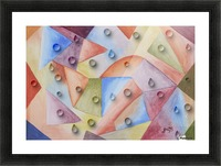 Rainbow Water Drops Picture Frame print