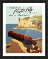 Discover Puerto Rico USA travel poster Picture Frame print