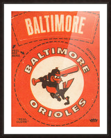 1969 Baltimore Orioles Fleer Cloth Patch Art | Row 1 Picture Frame print