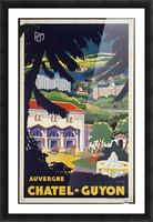 Auvergne Chatel Guyon Vintage French travel poster Impression et Cadre photo