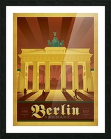 Berlin Germany travel poster Picture Frame print