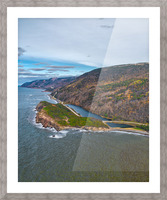 Custom Vert of Cabot Trail Picture Frame print