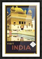 Visit India vintage travel poster Picture Frame print