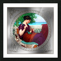 Far Away Thoughts c1911 by John William Godward Classical Fine Art Xzendor7 Old Masters Reproductions Picture Frame print
