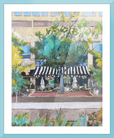 Street Cafe Downtown Baltimore Picture Frame print