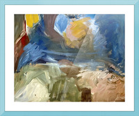 Sun Earth and Sky Picture Frame print