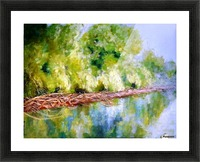 After rain on Danube river Picture Frame print