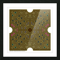 Labyrinth 1807 Picture Frame print