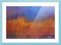 Orange and Blue Landscape Picture Frame print