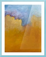 Big Orange Cloud Picture Frame print