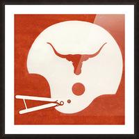 1983 Texas Longhorn Football Helmet Art Brushed Metal Sign Picture Frame print