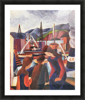 Children at the port (I) by August Macke Picture Frame print