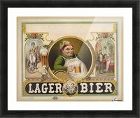 Lager Bier Vintage Poster Picture Frame print