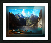 Konigsee c1873 by Willibald Wex Classical Fine Art Xzendor7 Old Masters Reproductions Picture Frame print