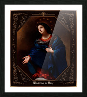 Madonna in Glory by Carlo Dolci Classical Art Xzendor7 Old Masters Reproductions Picture Frame print