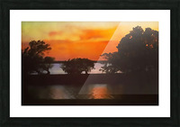 Tranquil Sunset Picture Frame print
