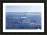 Window Plane View of Andes Mountains Picture Frame print