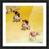 Sheep Picture Frame print