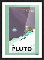 Ski Pluto poster Picture Frame print