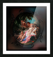 Angelica and Medoro by Francois Boucher Classical Fine Art Xzendor7 Old Masters Reproductions Picture Frame print