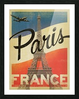 Paris France Vintage Poster Picture Frame print
