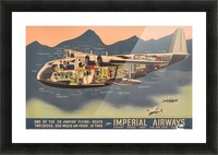 Original Vintage Travel Advertising Poster for Imperial Airways Empire Picture Frame print