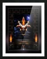 Akrellian Torch Fire Portrait Fractal Art Composition by Xzendor7 Picture Frame print