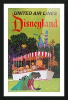 United Air Lines the official airline to Disneyland poster Picture Frame print