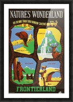 Frontierland Natures Wonderland attraction poster Picture Frame print