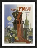 Fly TWA Paris Tourism Poster Impression et Cadre photo