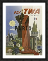 Fly TWA Paris Tourism Poster Picture Frame print