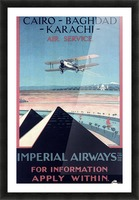 Airways Cairo Baghdad Karachi Vintage Travel Poster Picture Frame print