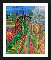 Vegetarian City Art Print Picture Frame print