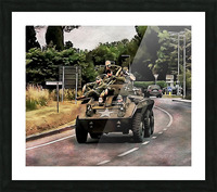 Six Wheeled Armoured Vehicle Picture Frame print