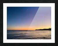 Sunset Moon - Malibu CA Picture Frame print