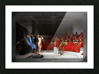 Phryne Revealed Before The Areopagus by Jean-Leon Gerome Classical Fine Art Xzendor7 Old Masters Reproductions Picture Frame print