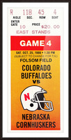 1986 Colorado Buffaloes vs. Nebraska Cornhuskers Picture Frame print