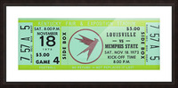 1972 Louisville Cardinals vs. Memphis State Tigers Picture Frame print