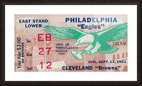 1961 Philadelphia Eagles vs. Cleveland Browns  Picture Frame print