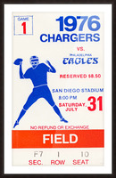 1976 San Diego Chargers vs. Philadelphia Eagles Picture Frame print