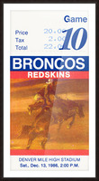 1986 Denver Broncos vs. Washington  Picture Frame print