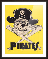 Vintage Sixties Pittsburgh Pirates Art Picture Frame print