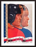 1938 Cal vs. Stanford Big Game Program Cover Art Picture Frame print