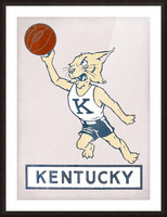 Vintage Kentucky Wildcat Basketball Art Picture Frame print